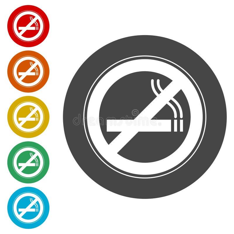 Inget - röka som är inget - röka tecknet stock illustrationer