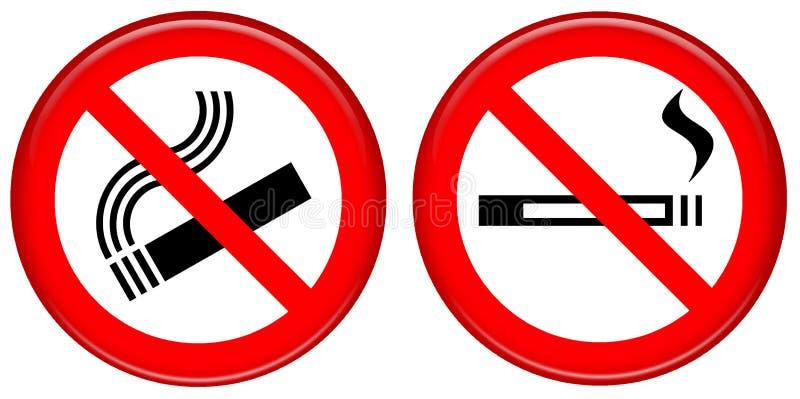 Inget - röka symbolen vektor illustrationer
