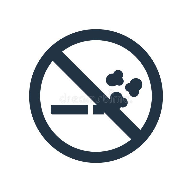 Inget - röka symbolsvektorn som isoleras på vit bakgrund som är ingen - röka tecknet royaltyfri illustrationer