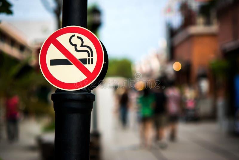 Inget - röka tecknet royaltyfri fotografi