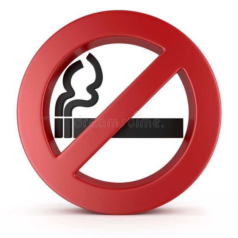 Inget - röka tecknet royaltyfri illustrationer