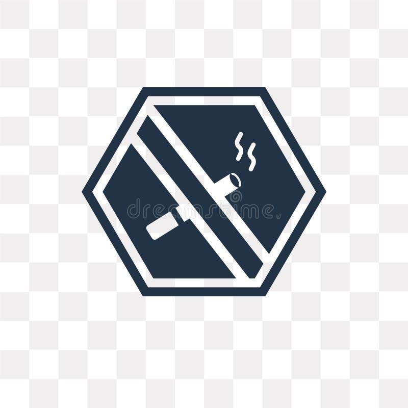 Inget - röka vektorsymbolen som isoleras på genomskinlig bakgrund, ingen sm vektor illustrationer