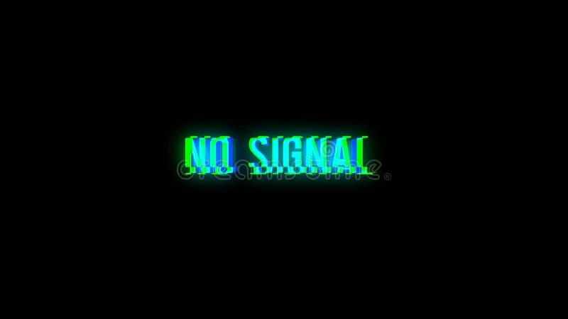 INGET SIGNALtexttekniskt fel på grund av dålig signal royaltyfri illustrationer
