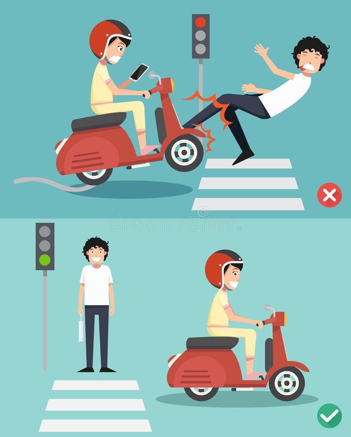 Inget smsa, inget samtal Högra och fel vägar stock illustrationer