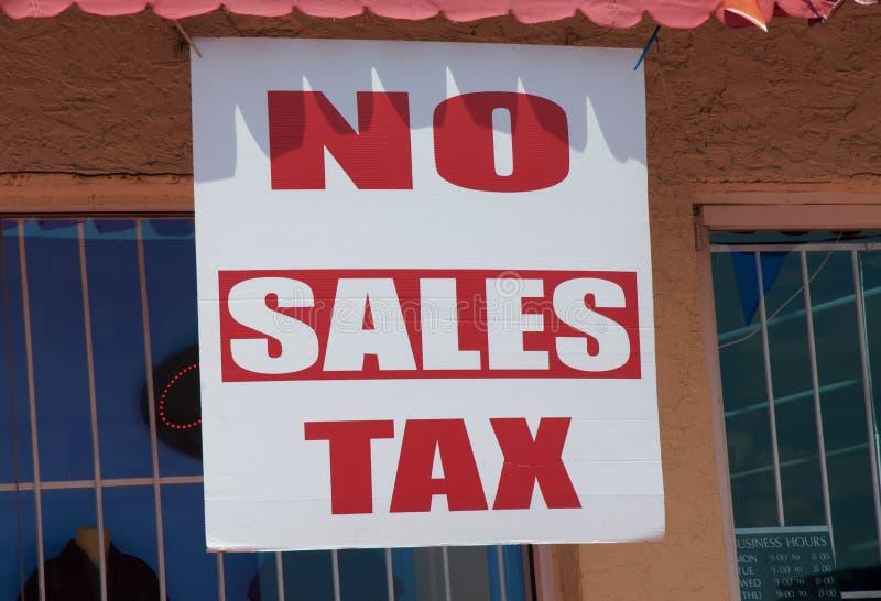 Inget tecken för försäljningsskatt fotografering för bildbyråer