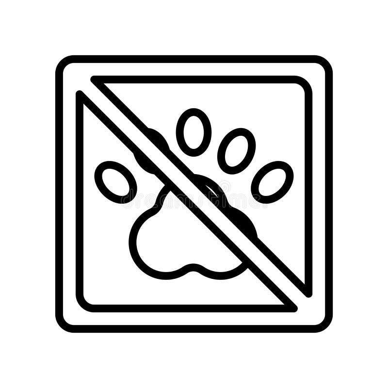 Inget tecken och symbol för djursymbolsvektor som isoleras på den vita backgroen stock illustrationer