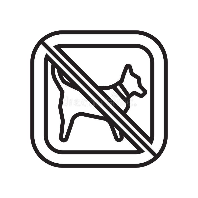Inget tecken och symbol för djursymbolsvektor som isoleras på vit bakgrund, inget djurlogobegrepp vektor illustrationer
