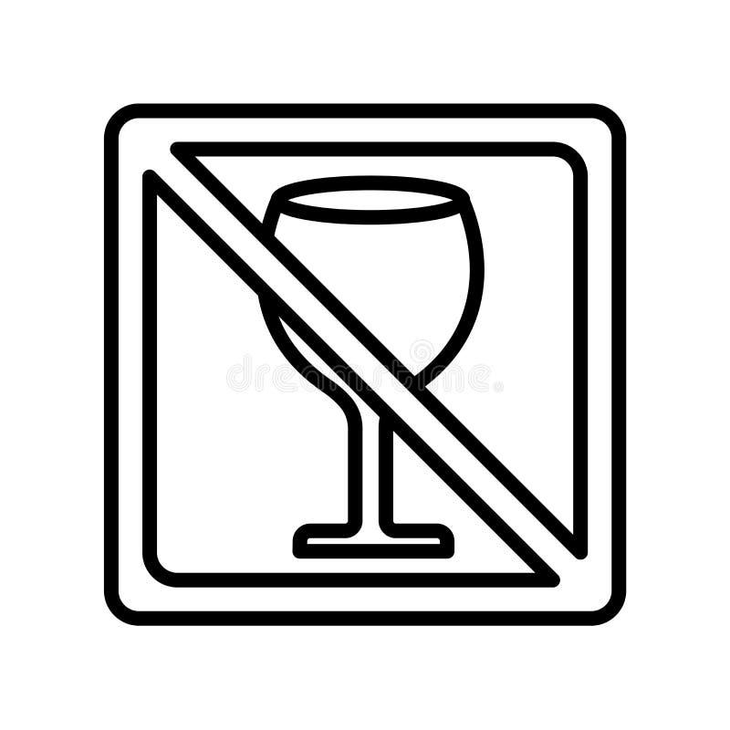 Inget tecken och symbol för drinksymbolsvektor som isoleras på den vita backgrouen royaltyfri illustrationer