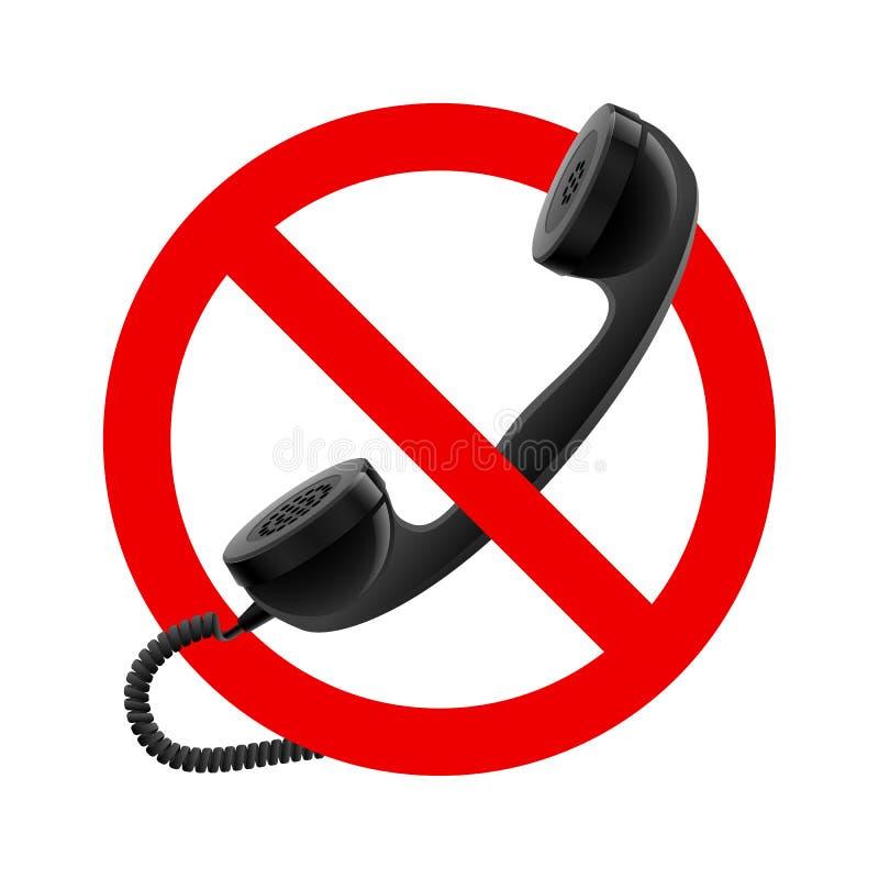 Inget telefonlur låtet tecken vektor illustrationer
