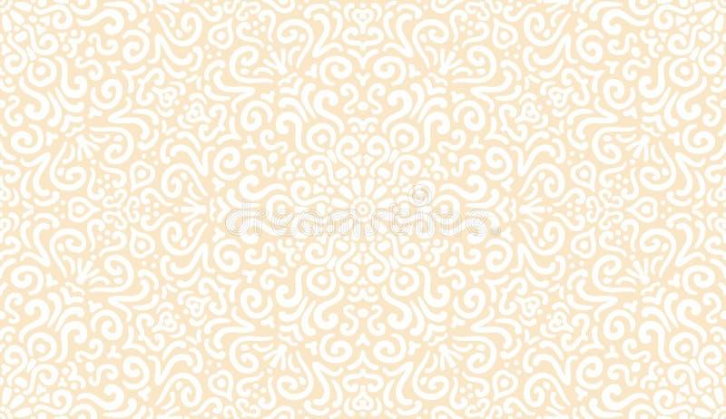 Download Ingewikkeld Fantasie Wit Naadloos Patroon Vector Illustratie - Illustratie bestaande uit decoratie, fancywork: 39111284