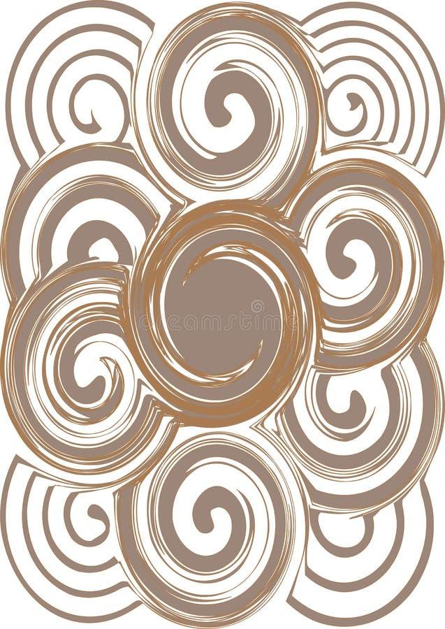 Ingewikkeld naadloos wervelings abstract patroon royalty-vrije illustratie