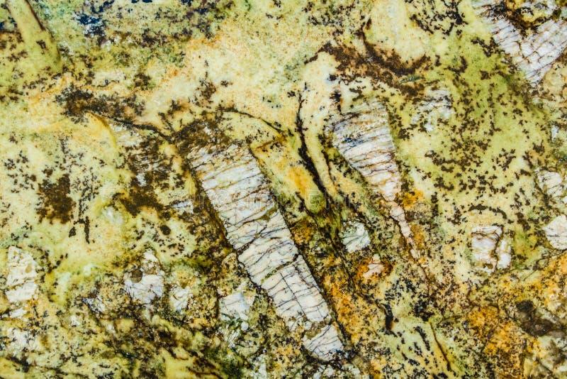 Ingewikkeld Patroon van Geel, Groen, en Gouden Graniet royalty-vrije stock afbeeldingen