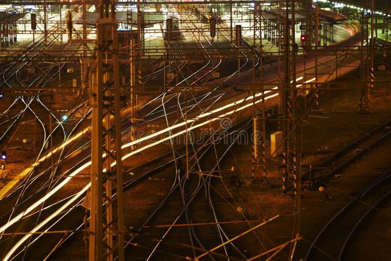 Ingewikkeld spoornetwerk royalty-vrije stock fotografie