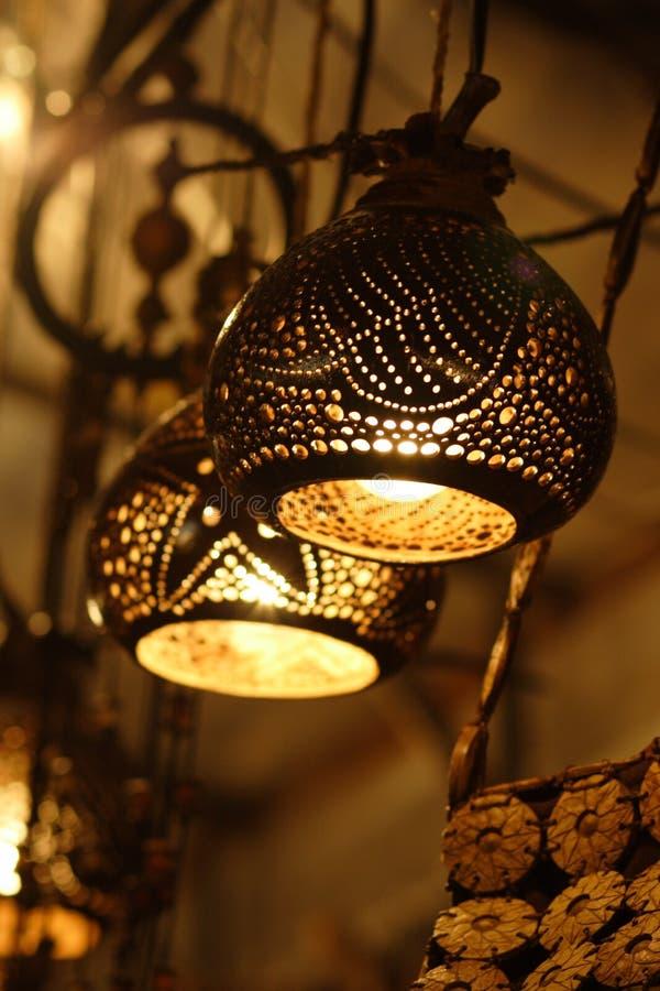 Ingewikkelde lampekappen royalty-vrije stock foto
