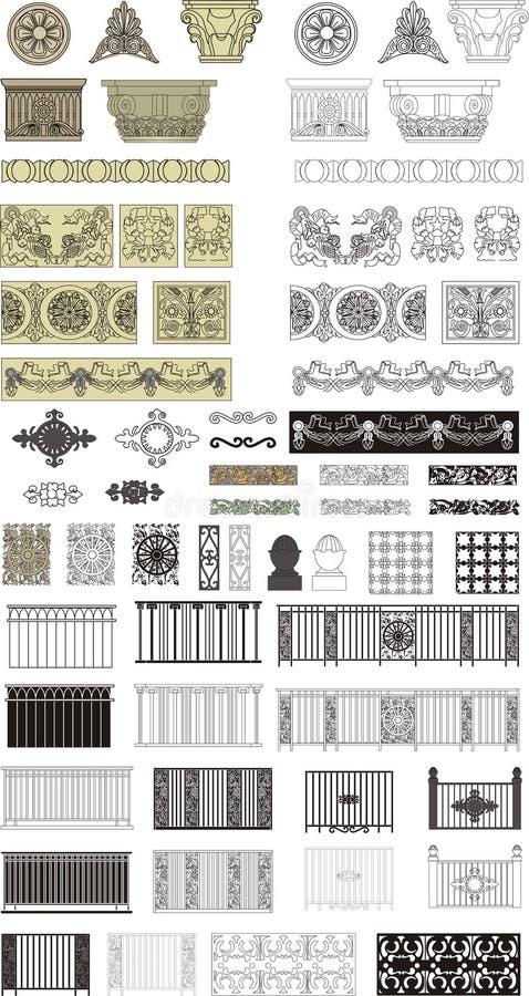 Ingewikkelde ontwerpen stock illustratie