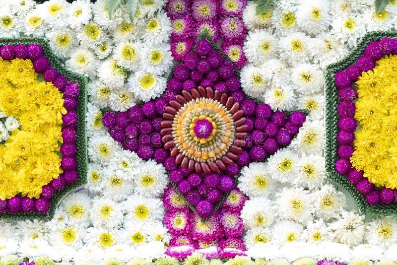 ingewikkelde patronen die bloemen en zaden gebruiken royalty-vrije stock fotografie