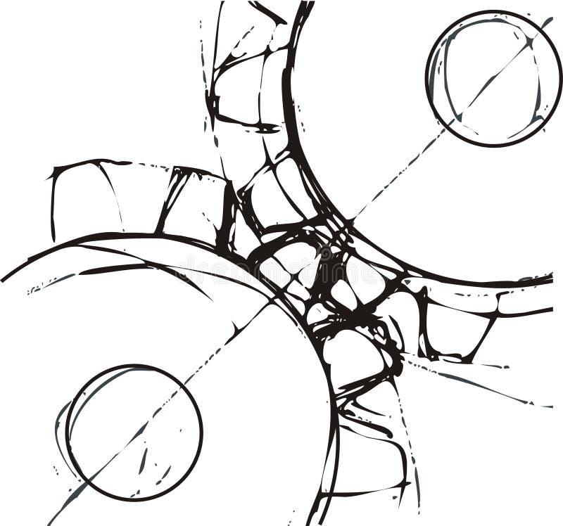 Ingewikkelde radertjewielen stock illustratie