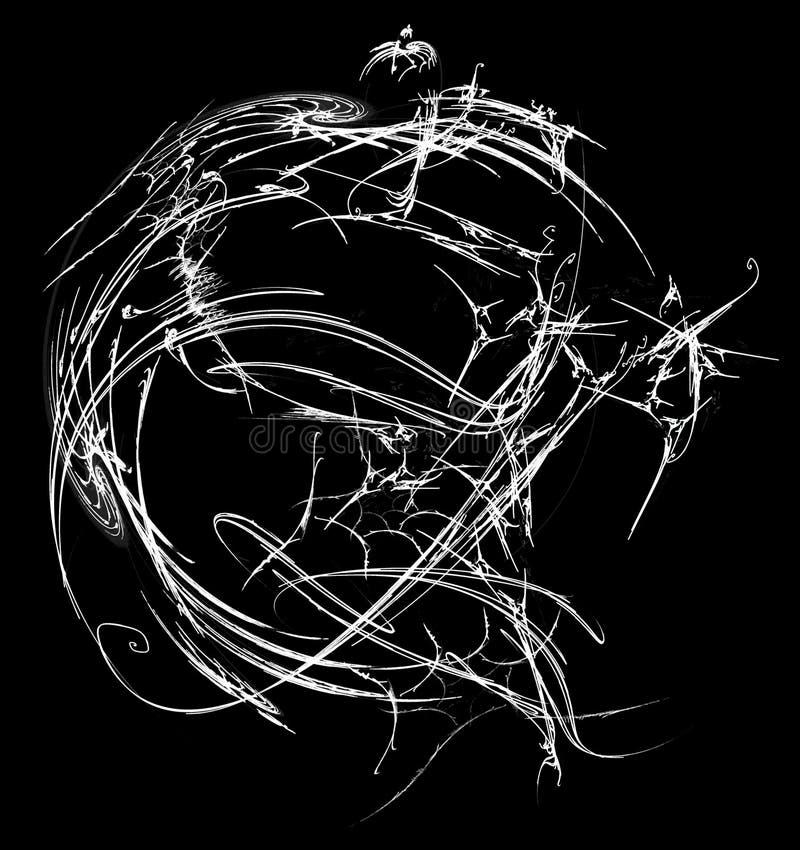 Ingewikkelde Witte Gebiedsamenvatting vector illustratie
