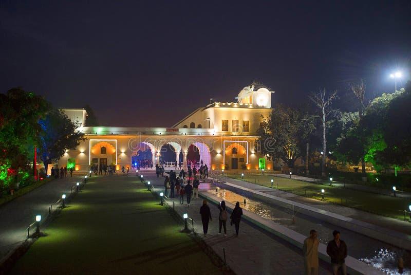 Ingewikkeldheid en asymmetrie in Vijay Vilas Palace, Bhuj royalty-vrije stock afbeeldingen