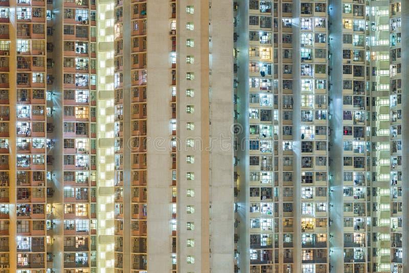 Ingezeten flatgebouw royalty-vrije stock afbeelding