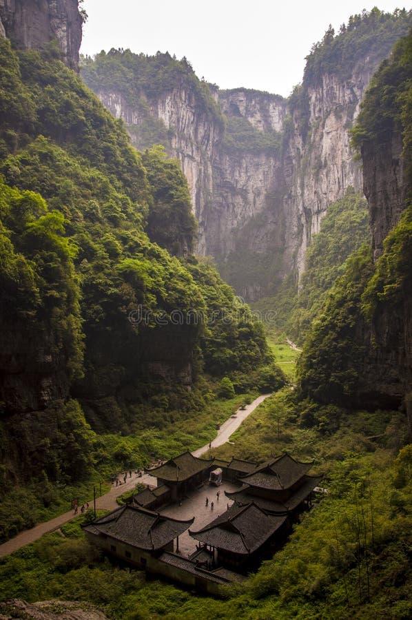 Inghiottitoio di Wulong e attico di Tienfu fotografia stock libera da diritti