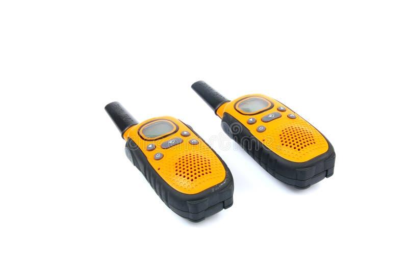 Ingiallisca i walkie-talkie fotografia stock
