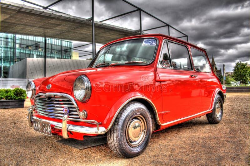 Inglés clásico Morris Mini Cooper S de los años 60 foto de archivo libre de regalías