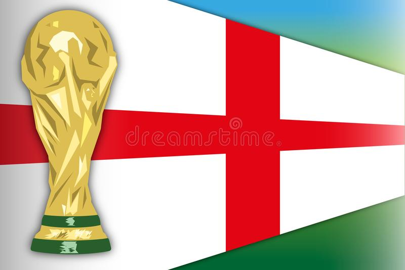 Inglaterra, campeón del mundo del finalista, Rusia 2018, semi finales stock de ilustración