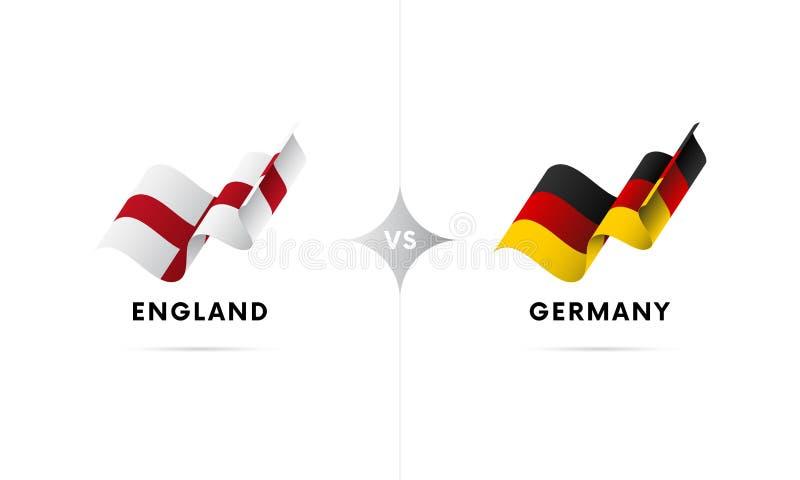 Inglaterra contra Alemanha Futebol Ilustração do vetor ilustração stock