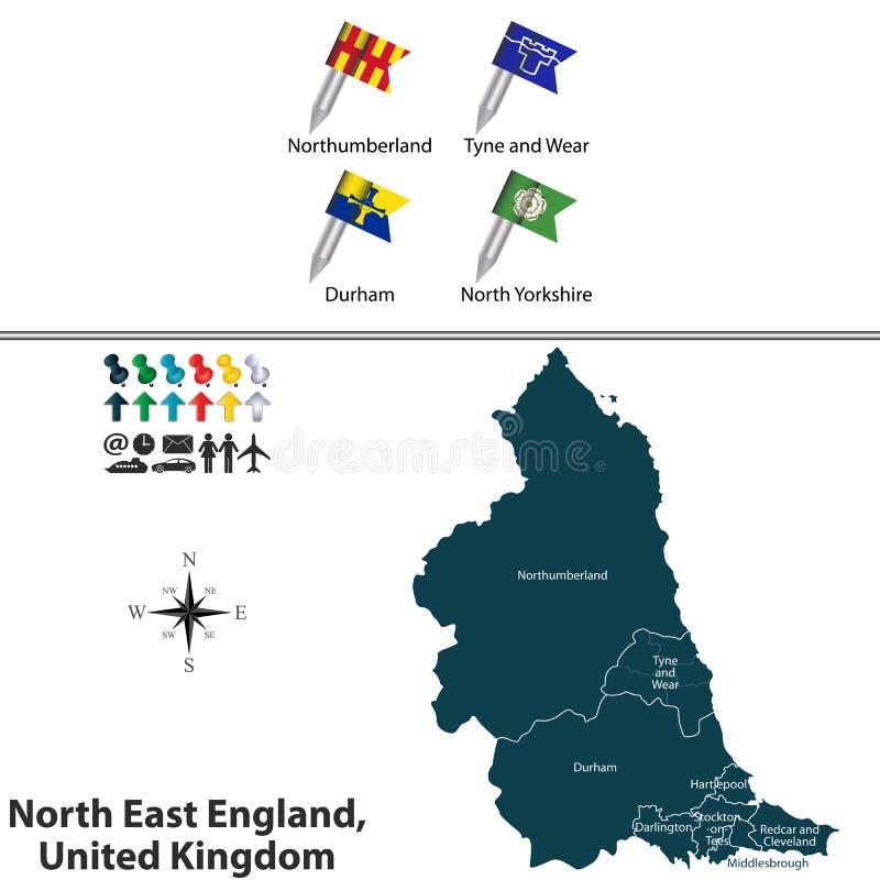 Inglaterra del este del norte, Reino Unido libre illustration