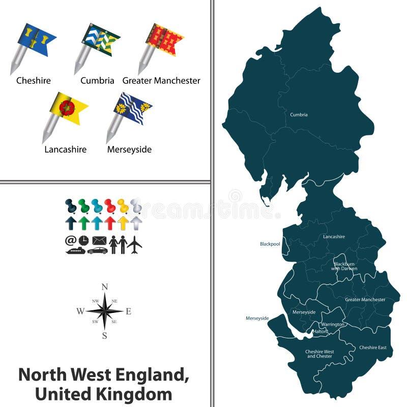Inglaterra del noroeste, Reino Unido stock de ilustración