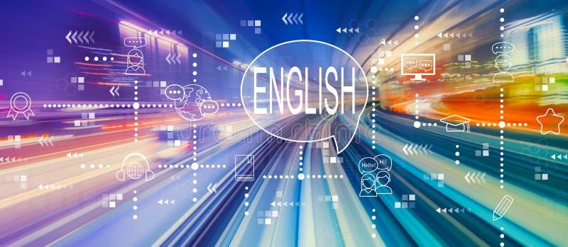 Inglese con mosso ad alta velocit? illustrazione vettoriale