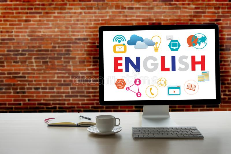 INGLESE (insegnamentoare di lingue di Britannici Inghilterra) parlate l'Inghilterra fotografia stock
