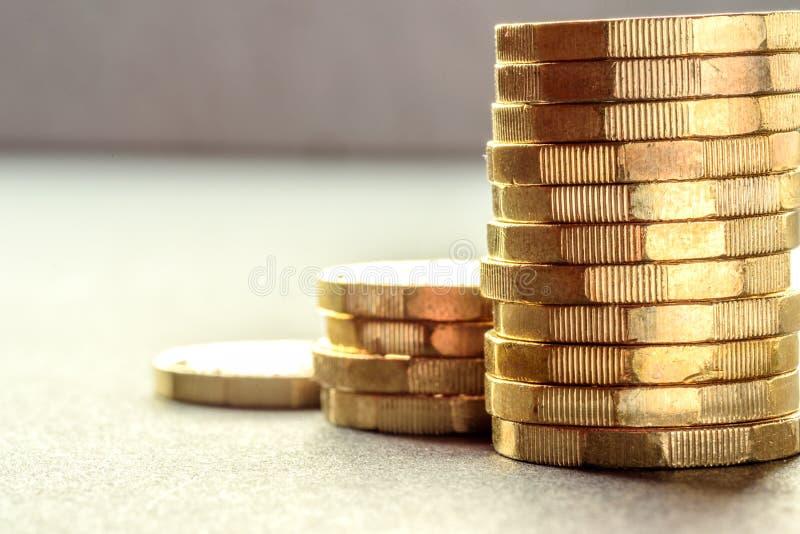 Ingleses novos uma libra Sterling Coin Chart Rate foto de stock