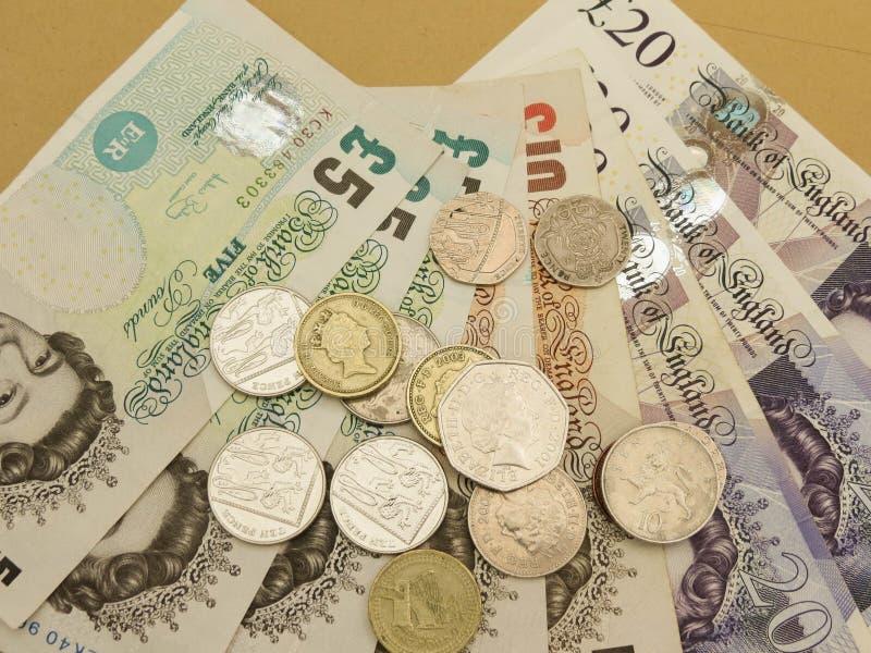 Ingleses Sterling Pounds fotografia de stock royalty free
