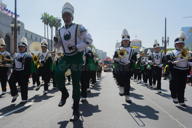 Inglewood High School Band at the Norooz Festival and Persian Pa royalty free stock photo