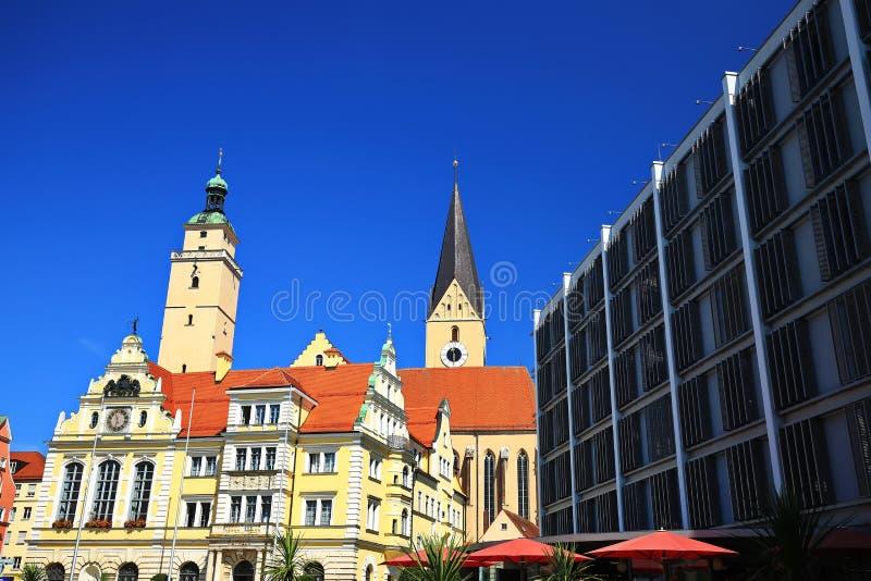 Ingolstadt jest miastem w Bavaria, Niemcy z wiele dziejowymi przyciąganiami/ zdjęcie royalty free