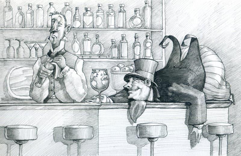 Ingordigia insaziabile illustrazione di stock