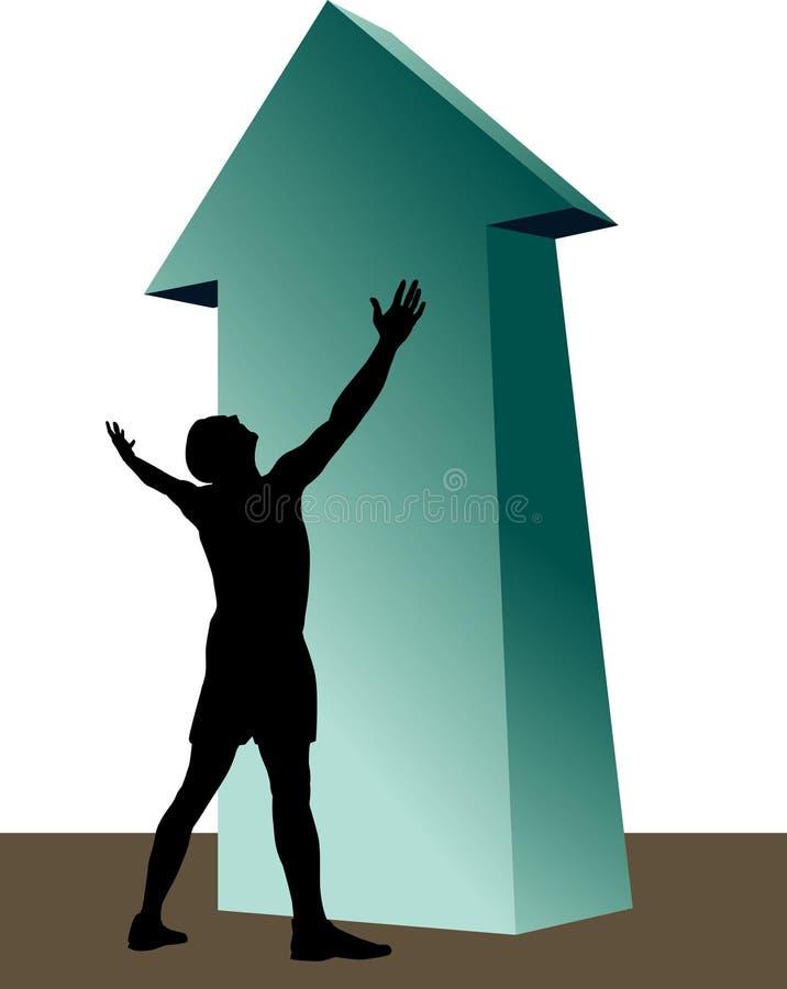 Download Ingordigia per successo illustrazione vettoriale. Illustrazione di successo - 7315328