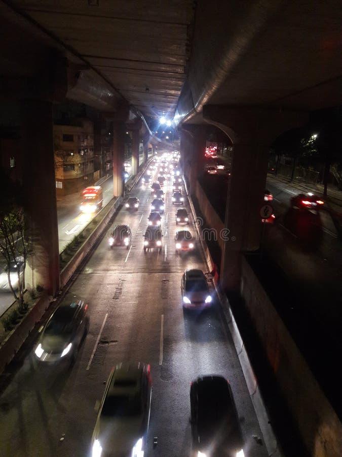 Ingorghi stradali in una metropoli in Città del Messico fotografia stock libera da diritti