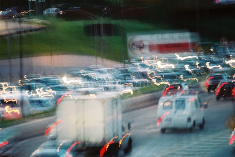 Ingorgo stradale immagini stock