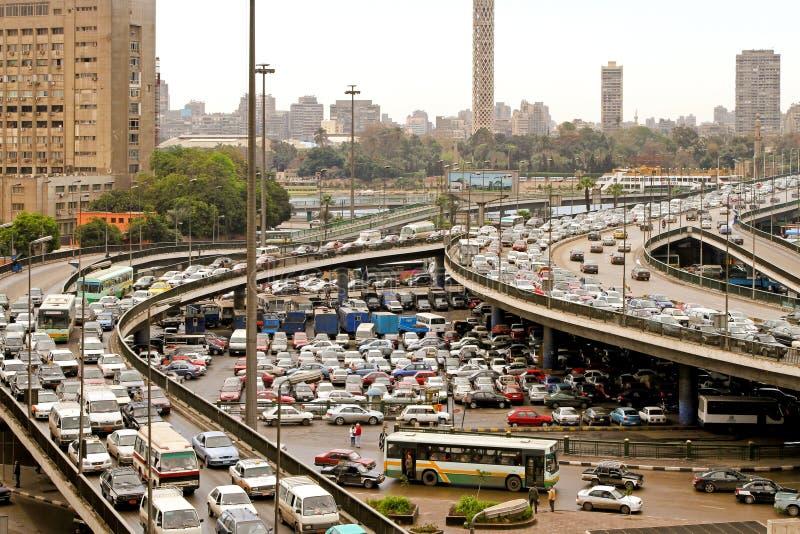 Ingorgo stradale di Cairo immagine stock libera da diritti