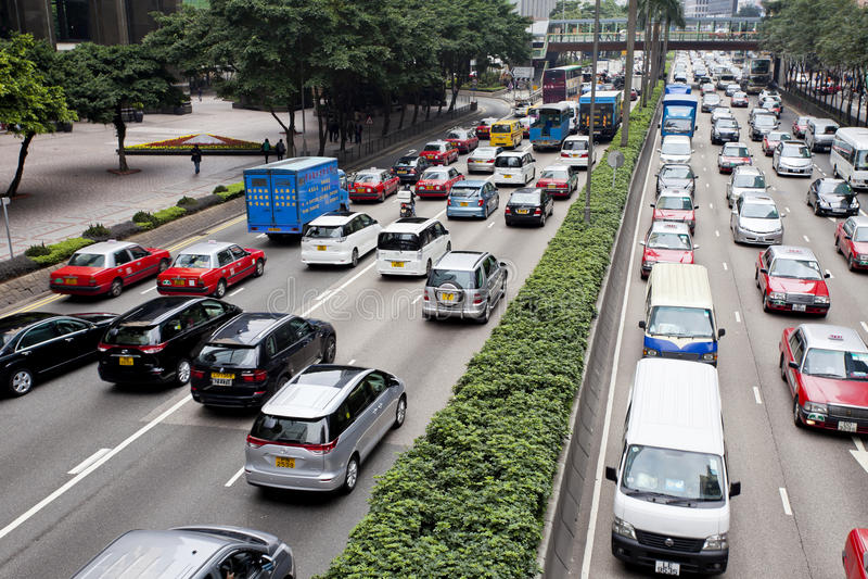 Ingorgo stradale in Hong Kong immagine stock libera da diritti