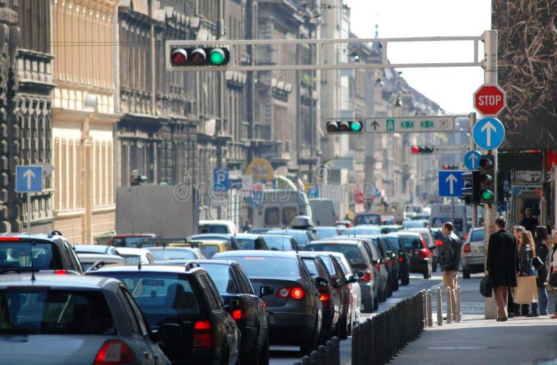 Ingorgo stradale nella città immagine stock libera da diritti