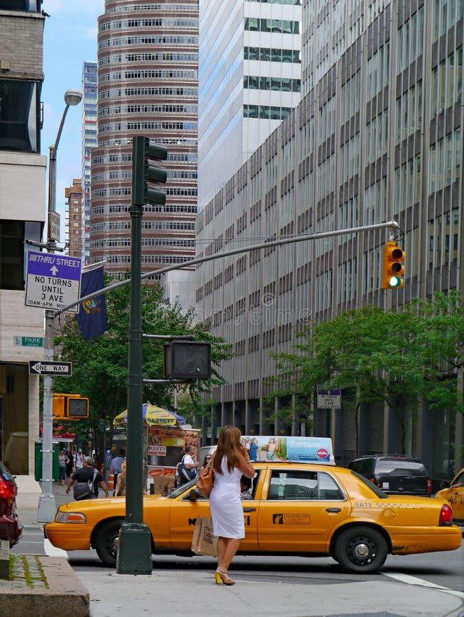 Ingorgo sulle strade affollate quale Park Avenue fotografie stock