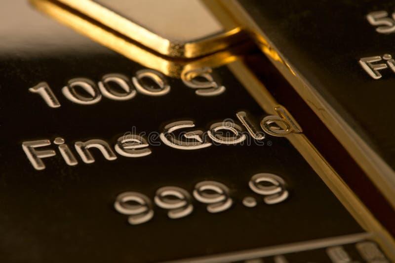 Ingot banka złoto. obraz stock