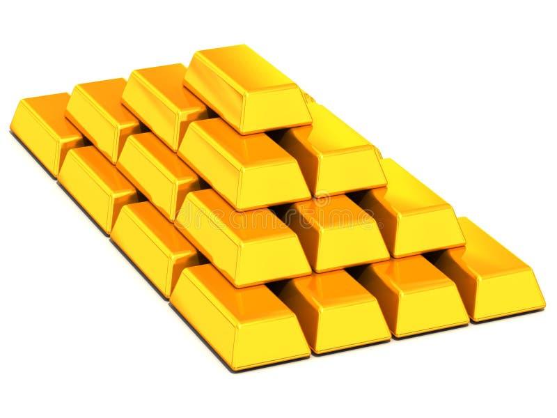 Download Ingots gold stock illustration. Illustration of chrome - 4123486