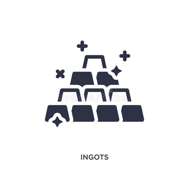ingots ikona na białym tle Prosta element ilustracja od dzikiego zachodniego pojęcia ilustracji
