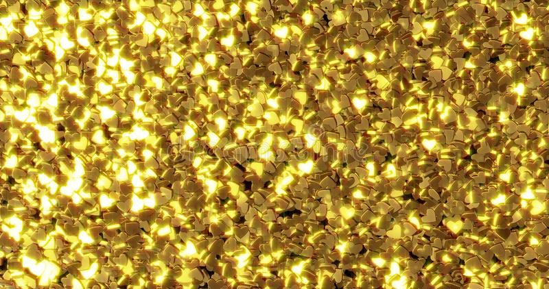 Ingots of pure gold. Golden background. Gold leaf texture. 3d graphic royalty free stock images