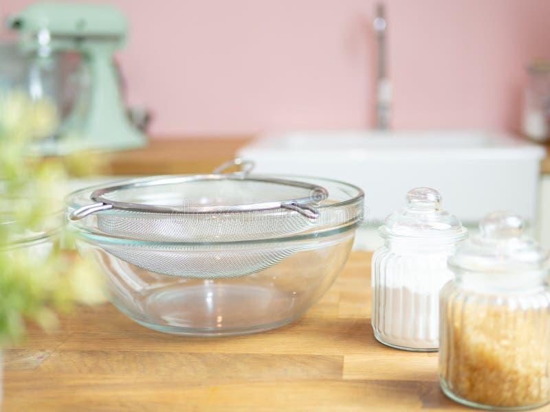 Ingrédient de nourriture de boulangerie photo stock